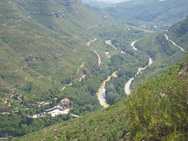 Vistas que se ven subiendo a Montserrat